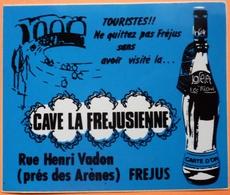 AUTOCOLLANT STICKER - CAVE LA FREJUSSIENNE - FREJUS - 83 - Stickers