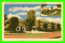 KANSAS CITY, KS - SUMMER HIGH SCHOOL, 8th AND OAKLAND AVE - TRAVEL IN 1952 - PUB. BY BLANKINSHIP DISTRIBUTOR - - Kansas City – Kansas