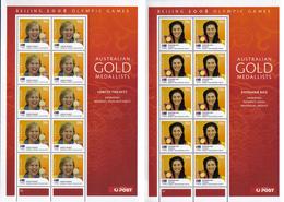 Australia 2008 Gold Winners Ol. Games Beijing Sheet Set Of 14 Y.T. 2928/2941 ** - Blocchi & Foglietti