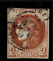 A7D-N°40 Report II Rouge Brique Nuance Certifiée Scheller. - 1870 Bordeaux Printing