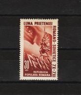 1950 - L Amitie Roummano - Sovietique Mi 1239 Et Yv 1125 MNH - Ungebraucht