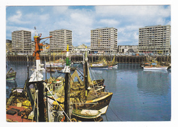 62 Boulogne Sur Mer N°1 Le Port De Pêche Beaux Bateaux Grands Immeubles HLM BUS Cars Autocars Anciens - Boulogne Sur Mer