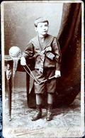 JOUET ENFANT ET BALLON A LANCER BEAU PLAN FORMAT CARTE DE VISITE - Photographs