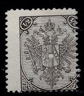 "BOSNIA-AUSTRIA, ""COAT OF ARMS"" 2nd PLATE 1/2 Kr ERROR-MISPLACED OVERPRINT, 1894 RARE!!!!!!!!!! - Unused Stamps"