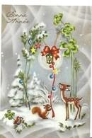 Cp - Bonne Année-lanterne, Animaux ( Carte écrite En 1967) - Nouvel An