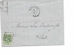 LE 0451. N° 30 Los Pts 315/ROULERS 11 MAI 71 S/LAC De La Soc; DE BROUECKERE Fr./Filaateurs/ROULERS V. Gand. TB - 1869-1883 Leopoldo II