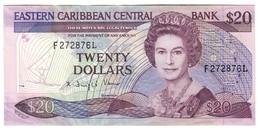 EASTERN CARIBBEAN20DOLLARS1988P24XF-Suffix L - Sign 2 - P24L2 - Pinholes.CV. - Caraibi Orientale