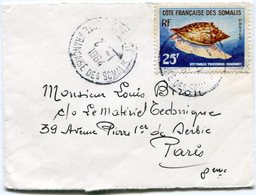 COTE FRANCAISE DES SOMALIS DEPART DJIBOUTI 2-1-1964 COTE FRANCAISE DES SOMALIS POUR LA FRANCE - Côte Française Des Somalis (1894-1967)