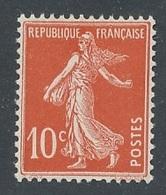 DI-223: FRANCE: Lot Avec  N°138fa** Papier X - 1906-38 Semeuse Con Cameo