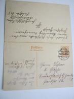 POLEN , Doppelganzsache Aus WARSCHAU Nach Oberplawitz , Dort Zurückverschickt - Besetzungen 1914-18