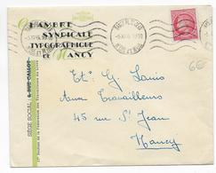 1946 - TARIF IMPRIME - MAZELIN YVERT 676 SEUL Sur LETTRE LOCALE De NANCY (MEURTHE ET MOSELLE) - - Posttarife