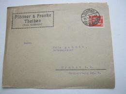 1926 , THEISSEN , Brief Mit Firmenlochung - Besetzungen 1914-18