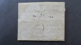 Lettre Marque Postale 81 Rochechouart Avec Texte Pour Angouleme Poste Restante - 1701-1800: Precursores XVIII