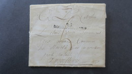 Lettre Marque Postale 81 Rochechouart Avec Texte Pour Angouleme Poste Restante - 1701-1800: Precursori XVIII