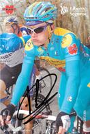 CARTE CYCLISME ALEXANDER VINOKOUROV SIGNEE TEAM LIBERTY 2006 - Cyclisme