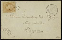 Lettre La Vauban, Carte Postale Aff. à 10c, Obl. Losange ARAN, Armée Du Rhin 26 Oct 70 Pour Bergerac, Arrivée Au Verso 2 - Non Classés