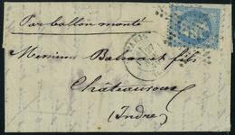 Lettre Le Jacquard, 20c Napoléon Lauré, Obl étoile + Cachet à Date Paris 60 Du 27 Nov 70, Au Verso Cachet Rare De Passag - Non Classés