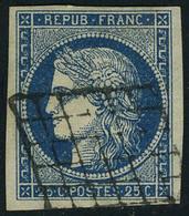 Oblitéré N° 4, 25c Bleu X 3 Exemplaires De Nuances Différentes, TB - Non Classés