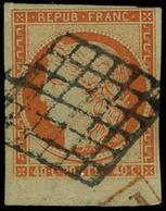 Oblitéré N° 5, 40c Orange Bdf T.B. Signé Brun - Non Classés