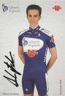 CARTE CYCLISME ALBERTO CONTADOR SIGNEE TEAM LIBERTY 2006 - Radsport