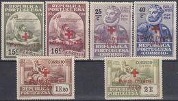 PORTUGAL 1928 Nº 32/37 FRANQUICIA NUEVO CON CHARNELA - Franchise