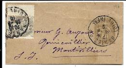 BANDE JOURNAL Type BLANC + Complément 1c (1910) - Enteros Postales