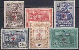 PORTUGAL 1929 Nº 38/43 FRANQUICIA NUEVO CON CHARNELA - Franchise
