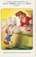 """Three Pennyworth Of Jelly Babies......"" Bamforth Risky Comic Ser. PC # 1860 - Humor"