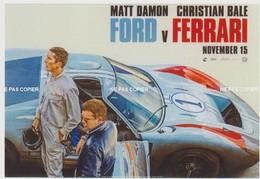 CARTE POSTALE CINEMA FILM Le Mans 66 Ferrari Vs Ford Ch.BALE M.DAMON - Plakate Auf Karten