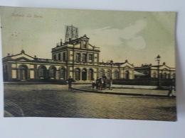 1908 CP Colorisée Renaix Ronse  La Gare Statie Station  Edit Bazar Parisien - Renaix - Ronse