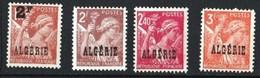 """Année 1945-N°233/236 Neufs**MNH : Type IRIS : Timbres De France Surchargés """"ALGERIE"""" (4 Valeurs Sans Charnières) - Ungebraucht"""