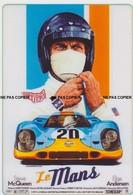 CARTE POSTALE AUTOMOBILE Le Mans Steve McQueen Ford GT 40 - Sonstige