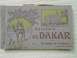 Carnet 10 Cpa Colorisées Dakar Sénégal - Senegal