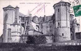 49 - Maine Et Loire - SAUMUR - Le Chateau - Coté Sud - Echafaudage Dans La Cour- 1912 - Saumur