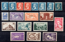 France Belle Collection De Bonnes Valeurs Neufs ** MNH 1924/1939. Gomme D'origine. TB. A Saisir! - France