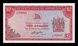 Rhodesia 2 Dollars 1977 Pick 35c SC UNC - Rhodésie