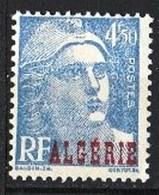 """Année 1945-N°239 Neuf**MNH : Type Marianne De Gandon : Timbres De France Surchargés """"ALGERIE"""" - Ungebraucht"""