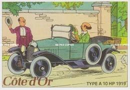 CARTE POSTALE AUTOMOBILE Professeur TOURNESOL (Type A 10 HP 1919) TINTIN - Toerisme