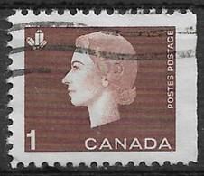 Canada 1963. Scott #401a (U) Queen Elizabeth II And Mineral Crystals - Single Stamps