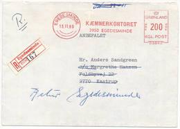 Registered Meter Cover Francotyp / Kæmnerkontoret - 13 November 1969 Egedesminde - Briefe U. Dokumente