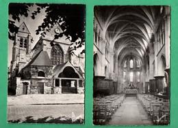 95 Val D ' Oise Marly La Ville  Lot De 2 Cartes Postales L 'eglise  ( Format 9cm X 14cm ) - Marly La Ville