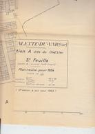 RT33.532  VAR .LA VALETTE DU VAR. PLAN DE LA VILLE  REVISE POUR 1934.  93 X73 Cm - Altri Disegni