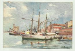 LIVORNO - VECCHIO PORTO ILLUSTRATA V.MARCHI 1941   VIAGGIATA  FG - Livorno