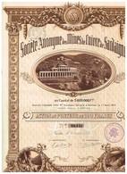 Titre Ancien - Société Anonyme Des MInes De Cuivre De Sardaigne - Titre De 1919 - Déco - Mines