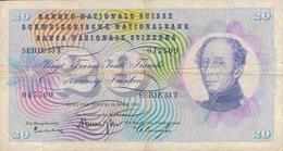 J25 - Billet 20 Francs Suisse 1963 - Suiza