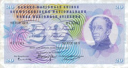 J25 - Billet 20 Francs Suisse 1965 - Suiza