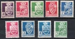 Année 1942-N°175/183 Neufs**MNH : Armoiries De Villes : émission Locale Avec Signature = 9 Valeurs - Ungebraucht