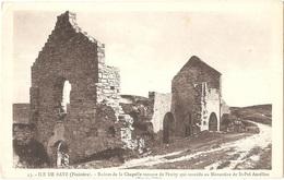 Dépt 29 - ÎLE-DE-BATZ - Ruines De La Chapelle Romane De Pénity Qui Succéda Au Monastère De Saint-Pol-Aurélien - Ile-de-Batz