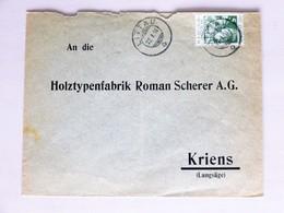 SUISSE / SCHWEIZ / SWITZERLAND // Brief Mit PRO JUVENTUTE 1913, Gest.: LITTAU 27.I.14 > KRIENS - Lettres & Documents