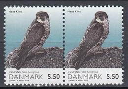 Denmark 2009 (MNH) (Mi 1525) (AVE061) - Peregrine Falcon (Falco Peregrinus) - Par Horizontal - Adler & Greifvögel